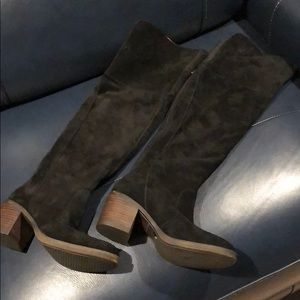 Lucky Brand Over the Knee Suede Boots - Size 6